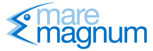 Mare magnum logo in light and dark blue